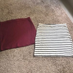 H&M Basics— Mini Jersey Skirts (XS/S-Bundle of 2)